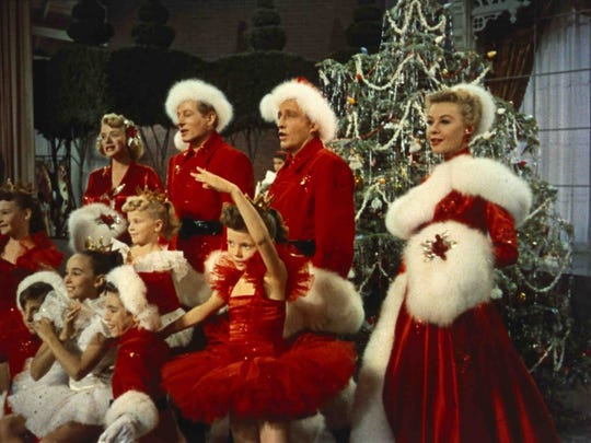 """Rosemary Clooney (from left), Danny Kaye, Bing Crosby and Vera Ellen dream of a """"White Christmas"""" in the 1954 musical."""