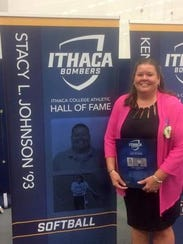 Stacy Johnson joined the Ithaca College Athletic Hall