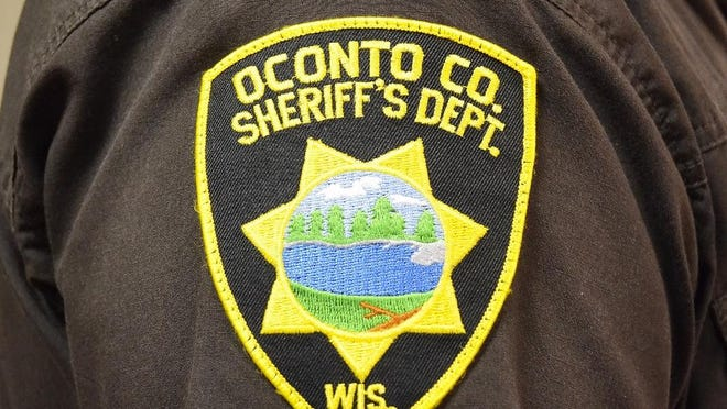 An Oconto County Sheriff's badge.