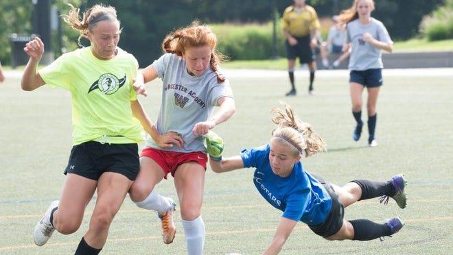 Sutton High School's Katie Wright is goalkeeper