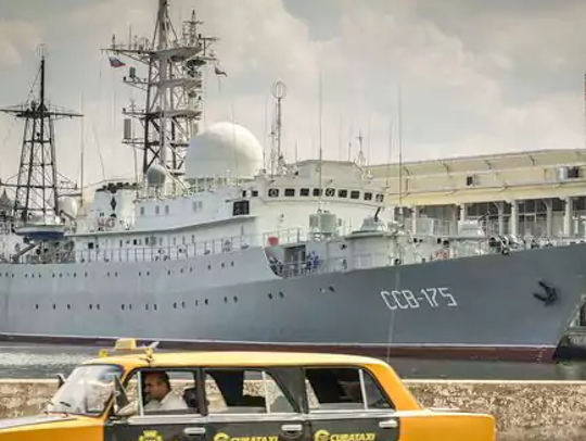 The Russian spy ship Viktor Leonov CCB-175 in the Havana,