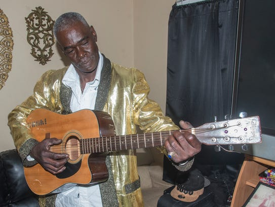 """Bibby Simmons the Black Elvis, a Montgomery resident, will star in a new play """"The Wooden Nickel Man"""" on Saturday at My Place Uptown at Atlanta Crossing."""