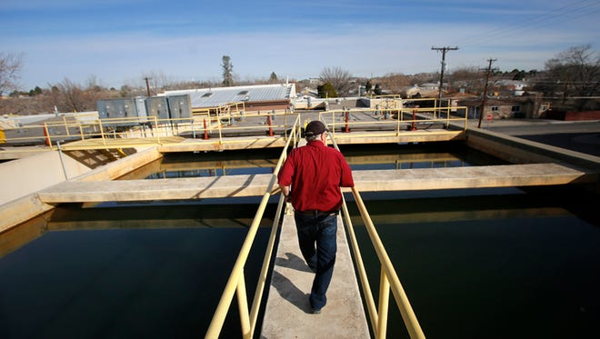 Manager Bob Fredriksen gives a tour Feb. 19 of Water Treatment Plant No. 1 in Farmington.