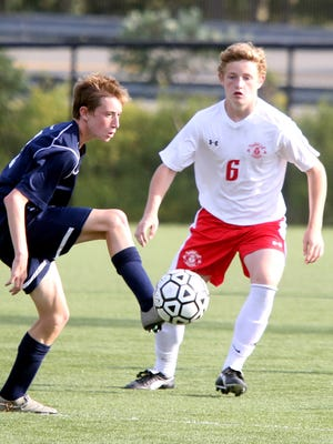 Tappan Zee defeats Byram Hills 3-1 during Westchester vs. Rockland Challenge boys soccer game at World Class Soccer Complex in Orangeburg on Sept. 5, 3016.