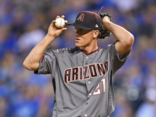 """It was all OK,"" Zack Greinke said of his start against"