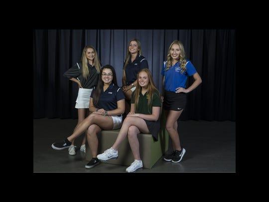2018 All-Shore Girls Golf Team- Front sitting: Michaila
