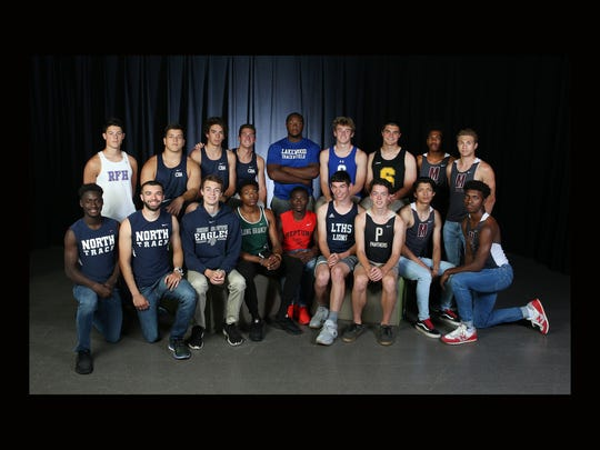 All-Shore boys track and field team photo shoot in