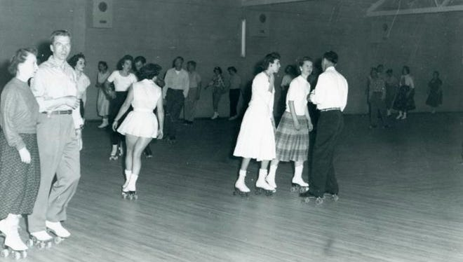 "Edru roller skating rink at 1891 Cedar Street in Holt. The photos are stamped ""July 1958."""