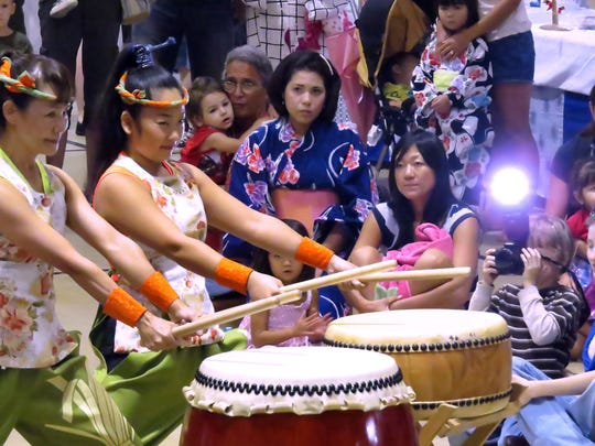 Members of EPCOT's Matsuriza Taiko Drummers perform at a previous Bon Fest in Pensacola. The group will be back as the headlining act on Saturday at the 2018 Bon Fest.