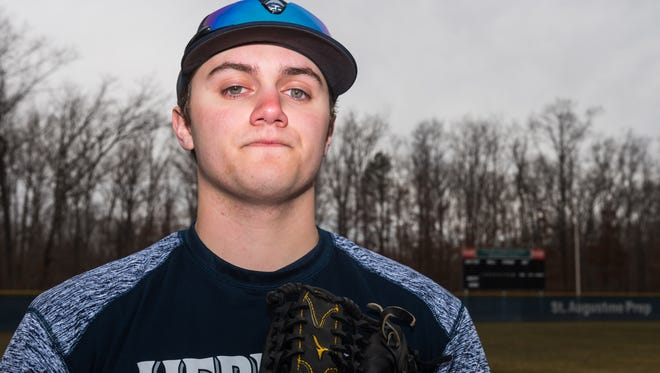 St. Augustine senior Kevin Eaise will be the ace on a staff of eight Division 1 pitchers for the Hermits this spring.