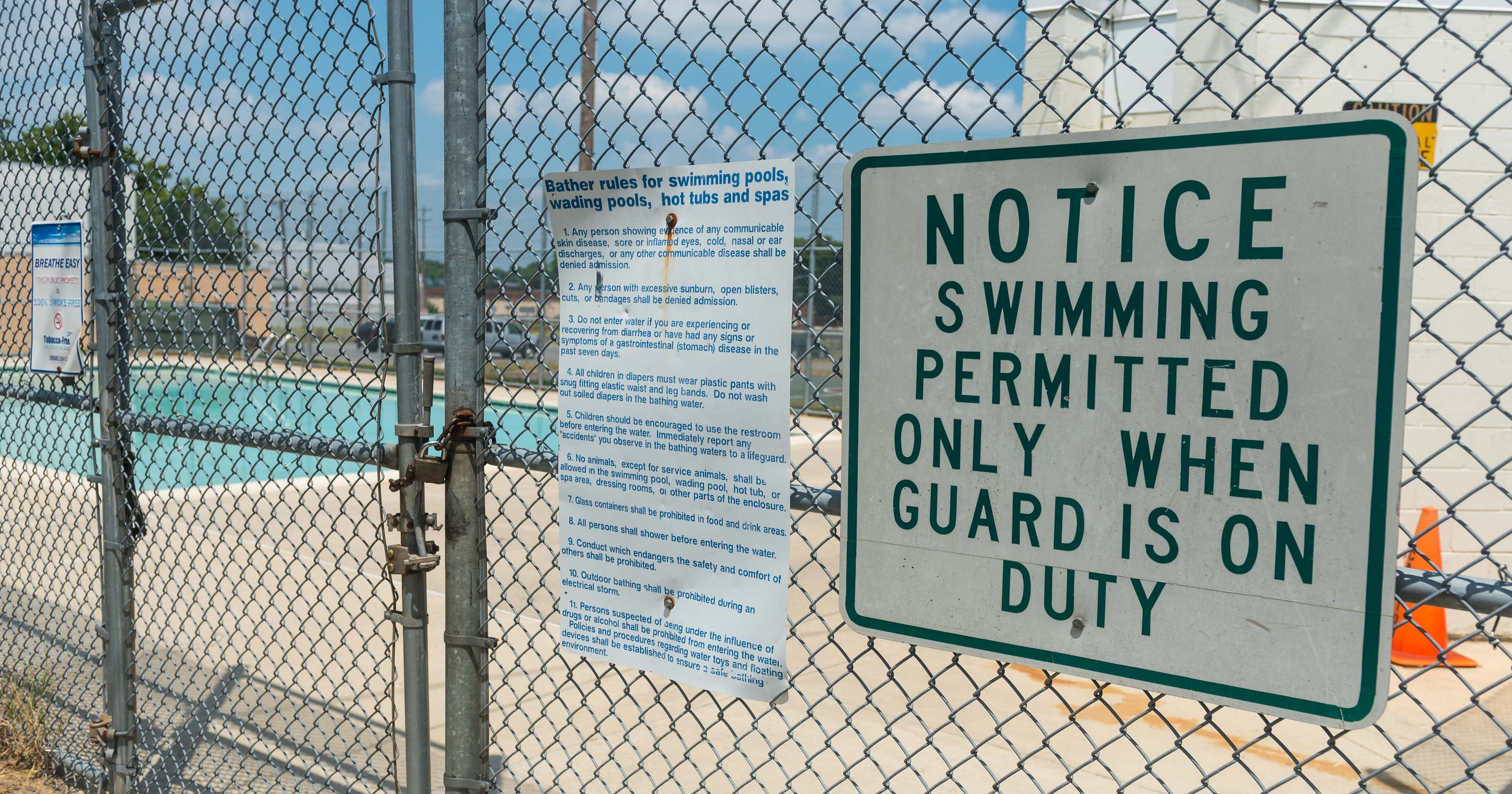 Plum Street pool open for Fourth of July