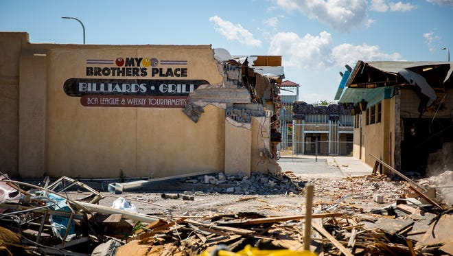 Recently closed restaurant and bar My Brother's Place undergoes demolition, Wednesday, August 24, 2016.