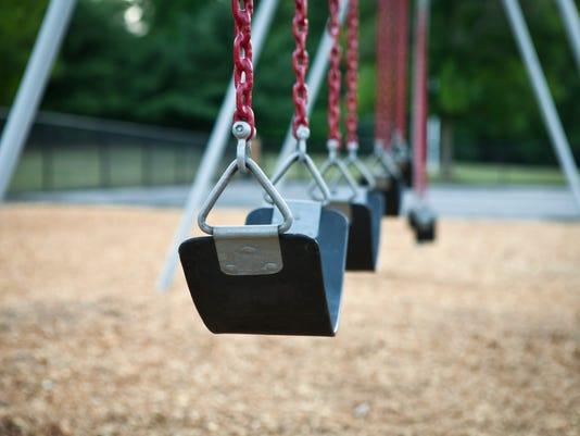 Swing on playground