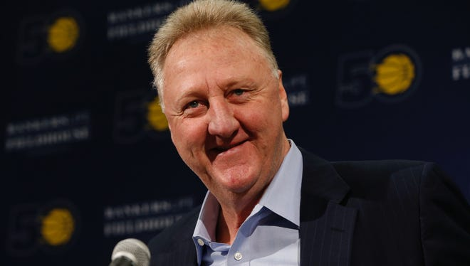 Larry Bird addressed the media on May 1, 2017