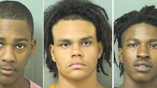 Tyrone Allen Jones, Kyle Henry Morgan, and Steve Taylor were booked April 12, 2020, at the Palm Beach County Jail.