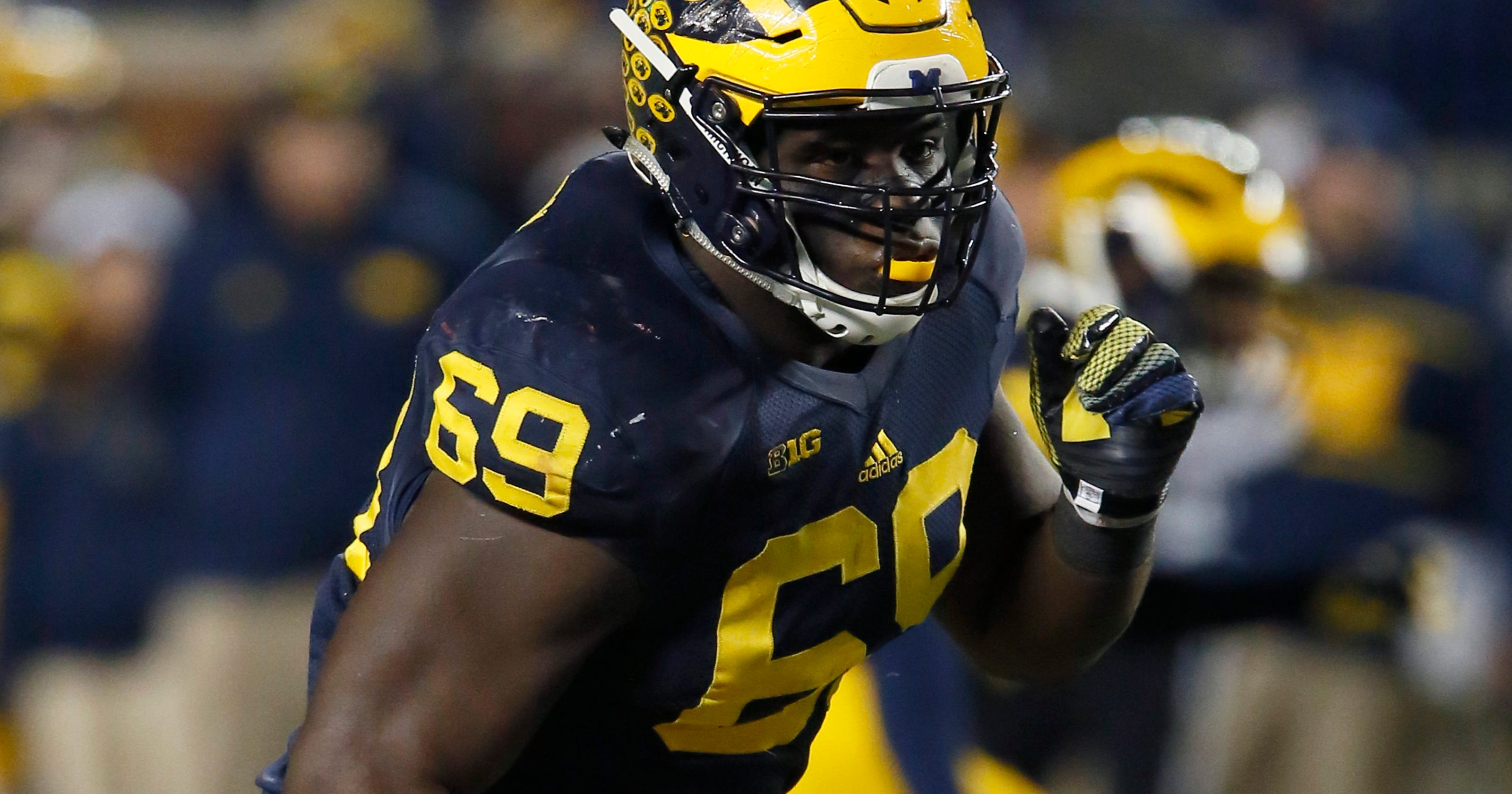 half off dbc86 bcb3c NFL combine filled with good times for Michigan DT Willie Henry