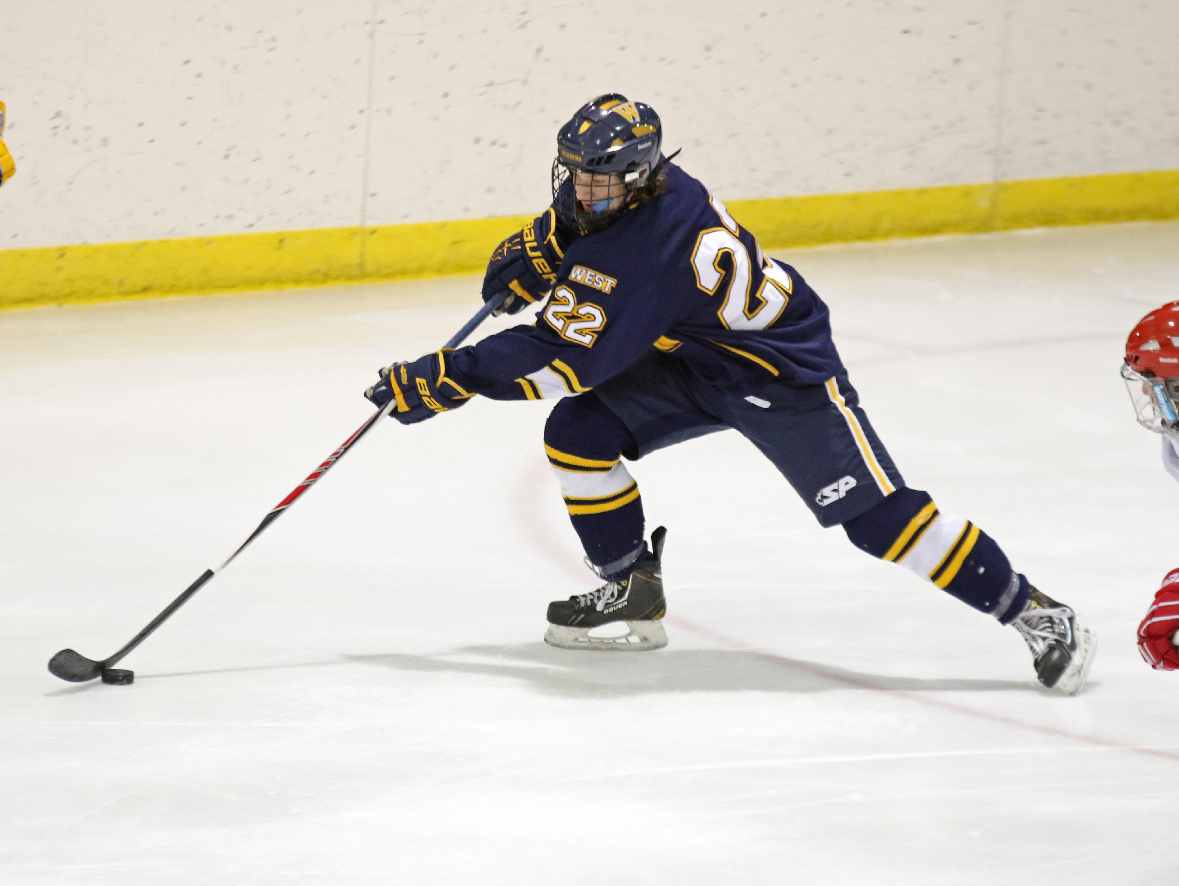 Wausau West's Cale Bowman, was a second team all-Wisconsin Valley Conference selection last season as a junior