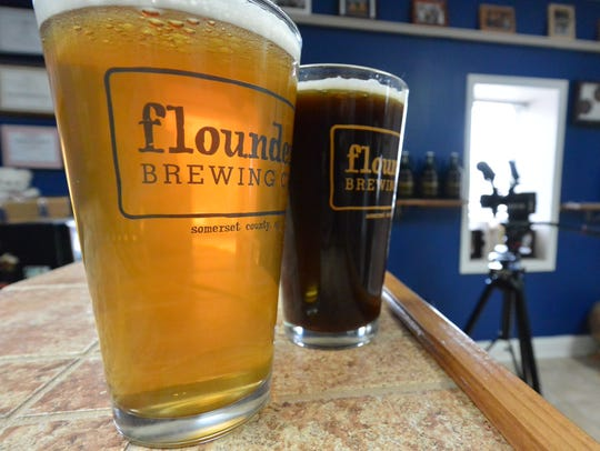 Beers from Flounder Brewing.