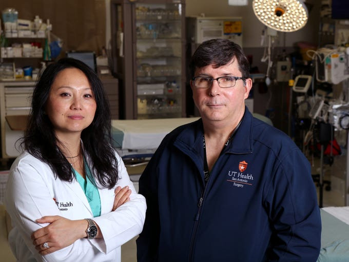 Surgeons Dr. Lillian Liao (left), Pediatric Trauma