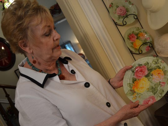 Sandy McClure talks about her handmade fabric plates.