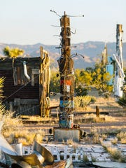 Noah Purifoy's Outdoor Museum of Assemblage Sculpture in Joshua Tree