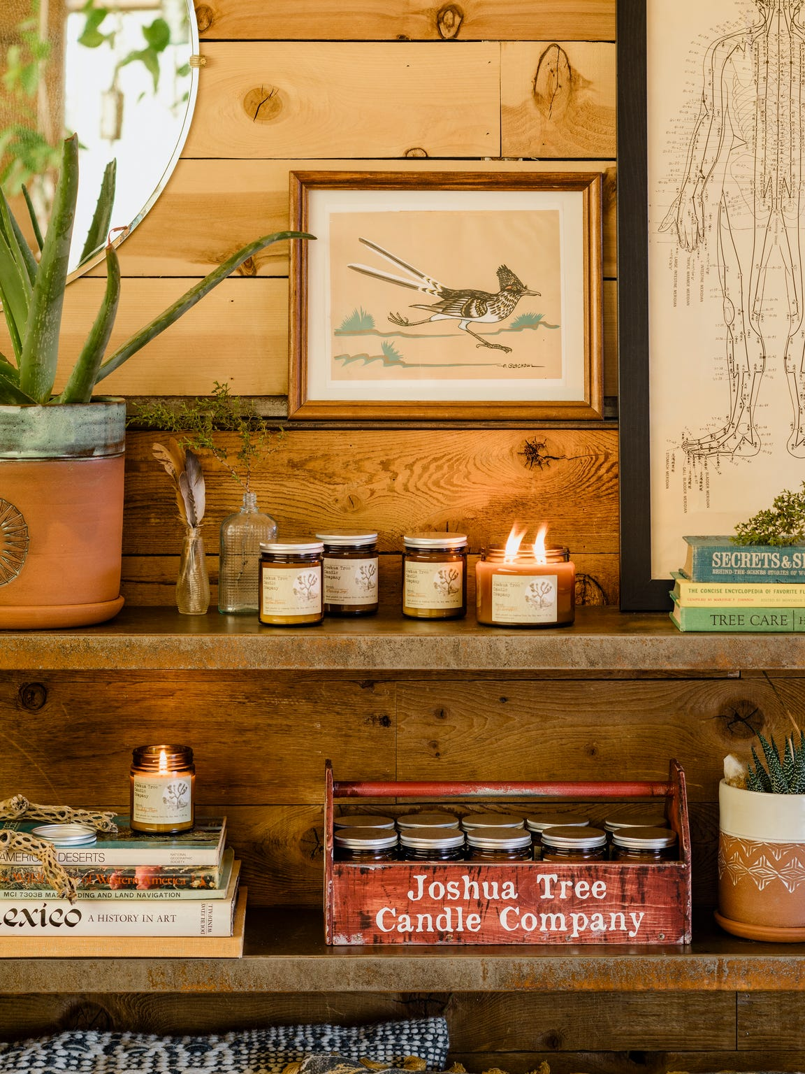 Joshua Tree Candle Co. at popular Airbnb Casa de Agave