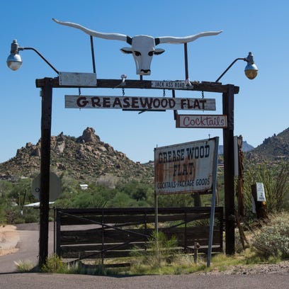 The sign for Greasewood Flat in Scottsdale on Friday,