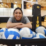 Setter Loxley Keala, a transfer from Missouri, has made an immediate impact on Iowa's volleyball team.