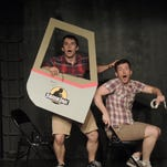 """""""Hold On To Your Butts"""" is a parody of """"Jurassic Park"""" by Nick Abeel. The two-man show comes to the Indy Eleven Theatre Nov. 4-8."""