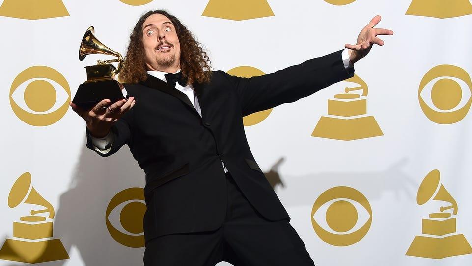 "'Weird Al"" Yankovic after winning Best Comedy Album"