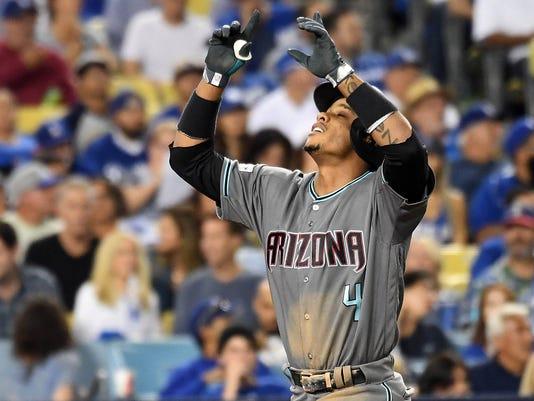 USP MLB: NLDS-ARIZONA DIAMONDBACKS AT LOS ANGELES S BBN LAD ARI USA CA