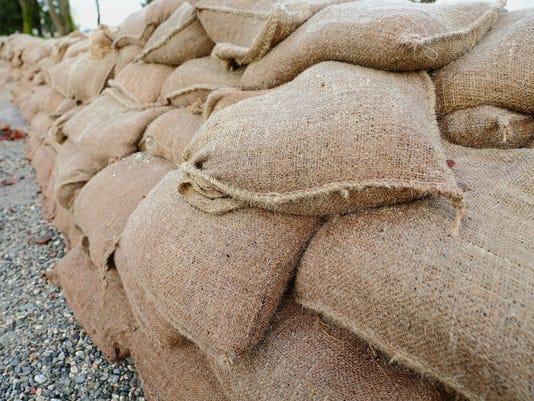 Sandbag Wall