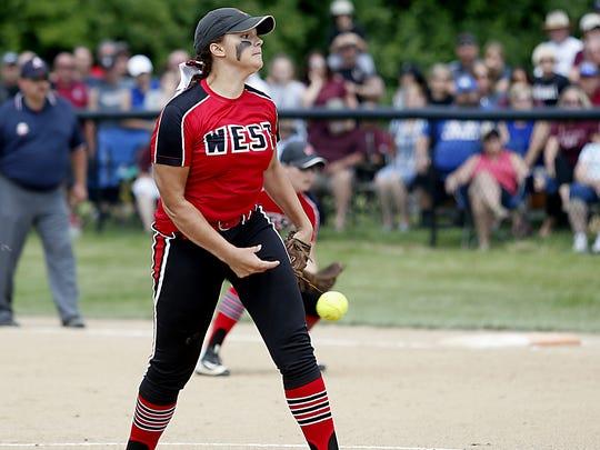Lakota West pitcher Stephanie Maldonado delivers a