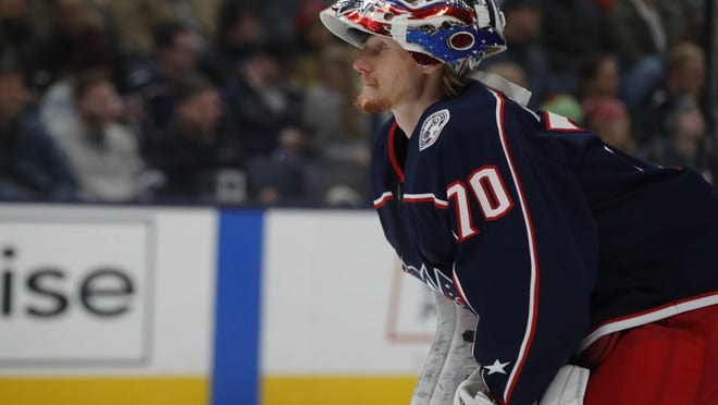 Goaltender Joonas Korpisalo struggled in the Blue Jackets' past two scrimmages.