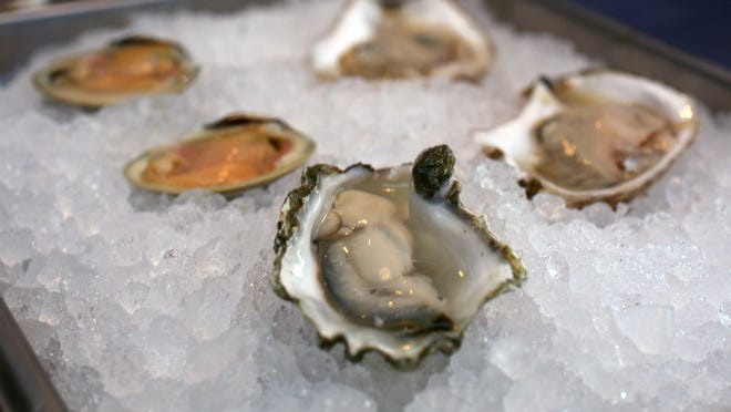 Shucked oysters and clams at the Northeast Oyster Co. on Mamaroneck Avenue in Mamaroneck.