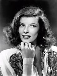 "Katharine Hepburn in the movie ""The Philadelphia Story,"""