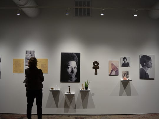 """The """"Mari Evans: Carl Pope"""" exhibit, a project by artist Carl Pope, poet Mari Evans and curator Shauta Marsh."""