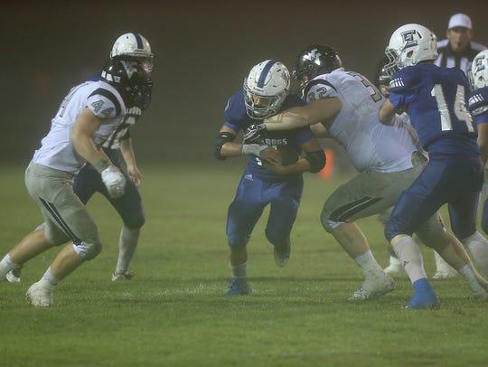 Water Valley Wildcat Trenton Tew tackles Eden Bulldog
