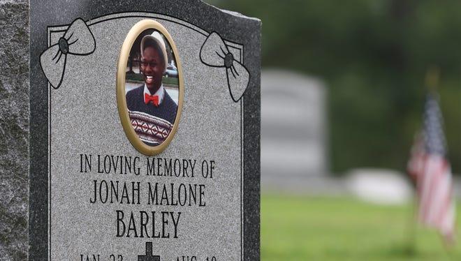 Jonah Barley was 17 when he died.  He is buried in Riverside Cemetery.