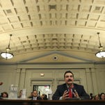 New Jersey Assembly Speaker Vincent Prieto addresses the New Jersey Assembly Judiciary Committee over the ongoing showdown over the future of Atlantic City in April. Prieto will put his own rescue plan for Atlantic City up for a vote on Thursday.