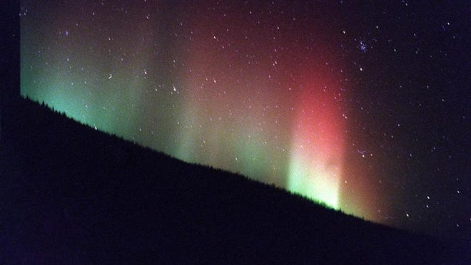 "The aurora borealis, or ""northern lights."""
