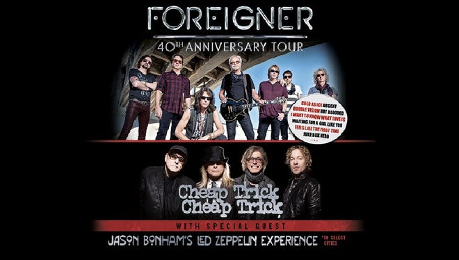 Promotional image for Foreigner ticket offer with Live Nation