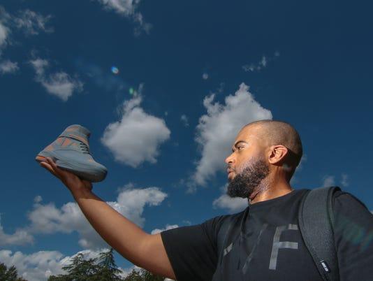 Former Westside High School'sMarcellus Johnson designs Nike shoes