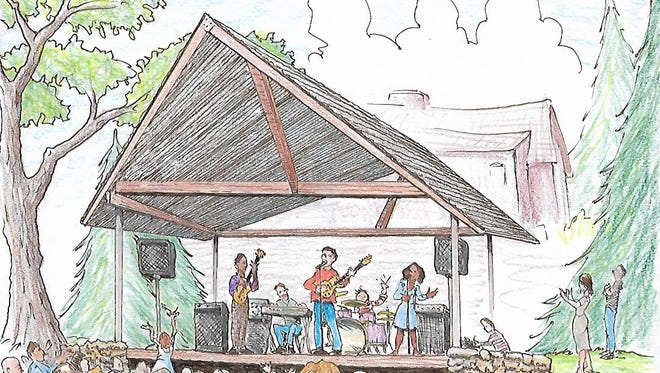 Artist Jerry Pope created this drawing of what the pavilion in Swannanoa will look like.