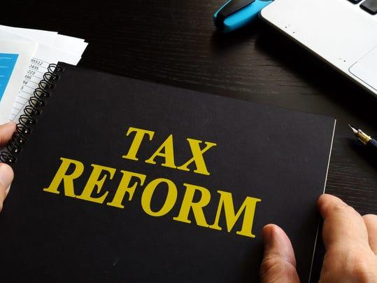 Tax reform on an office desk.