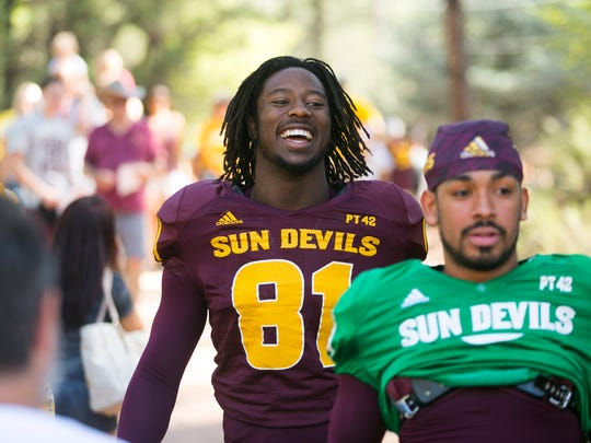 ASU wide receiver Gary Chambers is all smiles while