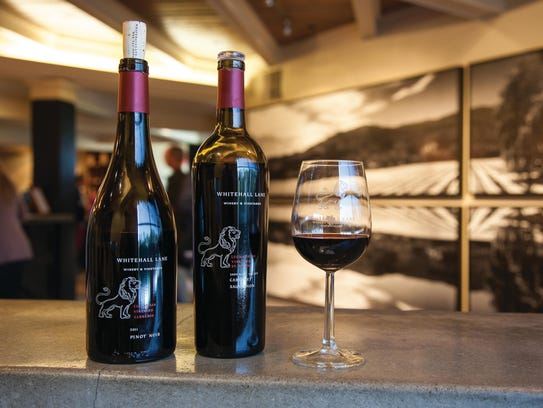 Two of Whitehall Lane winery's single-vineyard red