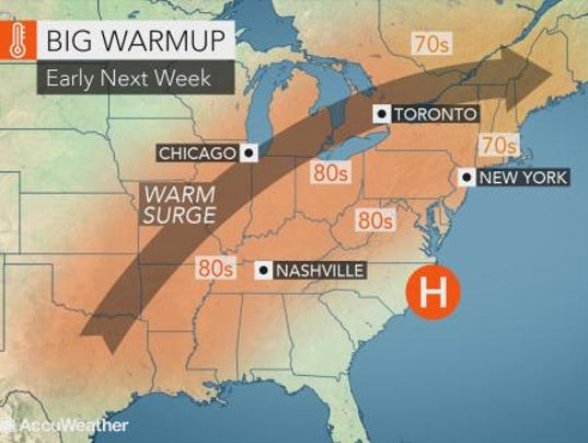 Weather forecast 4-25-18