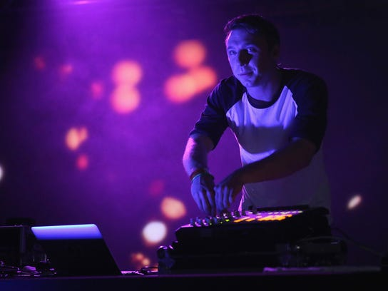 Clayton Knight of ODESZA performs  Saturday afternon at Day Club Palm Springs.