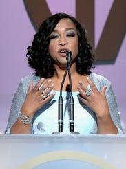 Shonda Rhimes accepts the Norman Lear Achievement Award